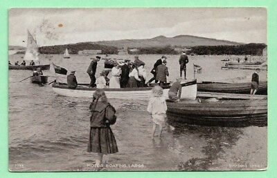 [13379] Ayrshire R/P Postcard Motor Boating Largs