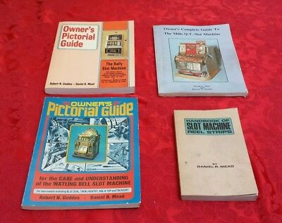4 Slot Machine Books, Guides, Pictorials : Mills Bally Watling Geddes Mead Saul