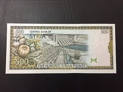 Syria , Syrie 500 pounds 1998 with map and without (500) UNC