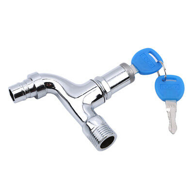 Washing Water Tap with Lock Key Alloy Faucet Single Outdoor Anti-theft Faucet D