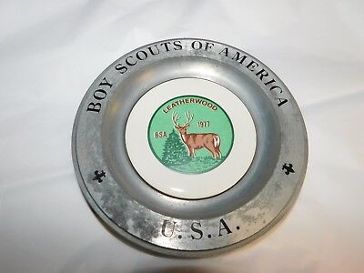 Boy Scouts Of America 'usa' Money Tray/pre-Owned/americana Art China Co./pre-Own