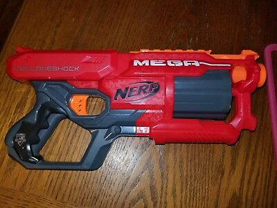 Nerf N-Strike Elite Mega CycloneShock Dart Blaster Gun with Rotating Drum N2