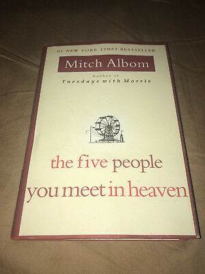 The Five People You Meet in Heaven by Mitch Albom Hardcover Classic Book