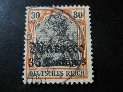MOROCCO GERMAN OFFICES COLONY Mi. #39 used stamp! CV $15.50