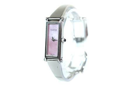 d97a2f7c00343f Auth GUCCI 1500L Mother of Pearl Dial Stainless Steel Ladies Watch GW10212L