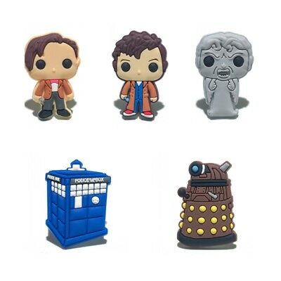 5pcs/lot Doctor Who PVC Shoe Charms Accessories for holes on Shoes Band Bag Gift