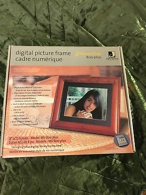 "Digital Spectrum digital picture frame 8"" Memory Vue 800 Plus NIB"