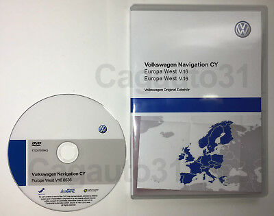 Volkswagen Navigation CY Europa West V.16 (2019) RNS 510 / RNS 810 + UPDATE CD