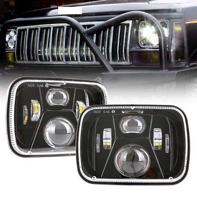 Pair DOT Approved 110W 5x7'' 7x6 inch Led Headlights for Jeep Franklin Oakland