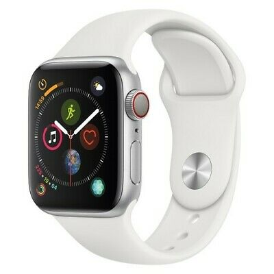 Apple 44mm Series 4 Smart Watch with Aluminum Case - White (MTUU2LL/A)