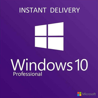 Instant Windows 10 Pro Professional 32 & 64 Bit Activation Code License Key