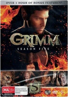 """GRIMM: Season 5"" DVD, 5 Disc Set - Regions [4][2] BRAND NEW"