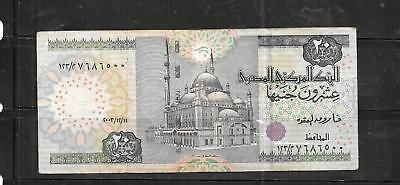 EGYPT #65d 2004 20 POUND VG CIRC OLD BANKNOTE PAPER MONEY CURRENCY BILL NOTE