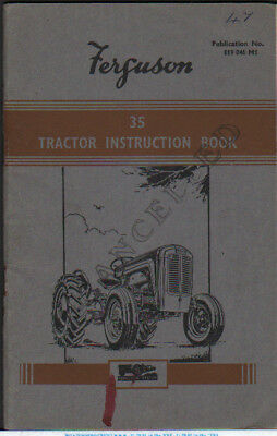 Tractor Manuals & Publications Ferguson 35 Instruction Book  .................................  Original Manual Business, Office & Industrial