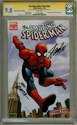 Amazing Spider-Man #642 Nycc Variant Cgc 9.8 Signature Series Stan Lee Romita Sr
