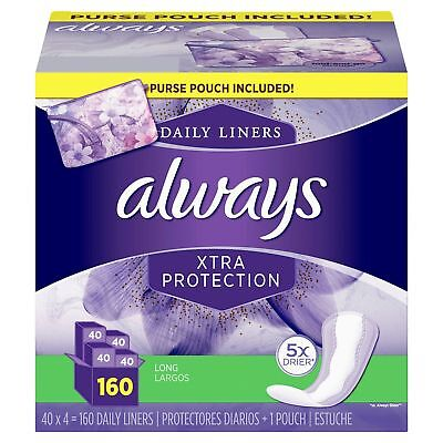 Always Xtra Protection Daily Liners, Long  (160 ct.), Free Shipping!!!