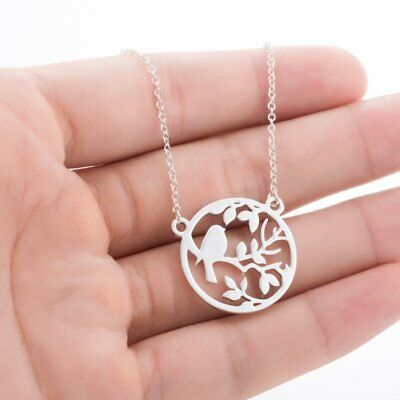 Fashion Women Necklace Jewelry Stainless Steel Hollow Animal Pendant Necklace