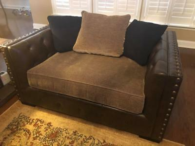 Eric Church Highway To Home Hickory Canyon Brown Oversized Chair