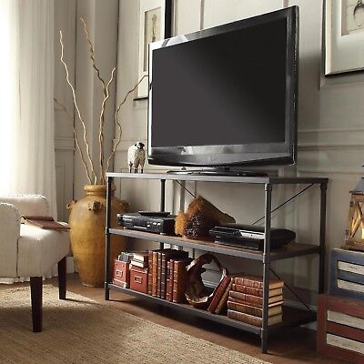 Myra Vintage Industrial Modern Rustic Media Tv Stand Console By