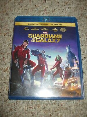 Guardians of the Galaxy (Blu-ray Disc, 2014, 2D/3D)