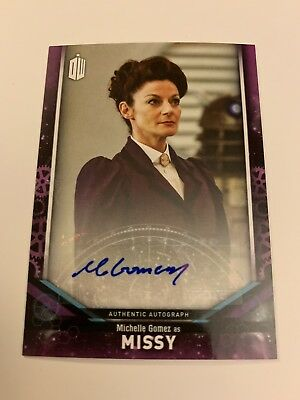 Missy Autograph Michelle Gomez Dr Who 2018 Signature Series Topps Auto Doctor