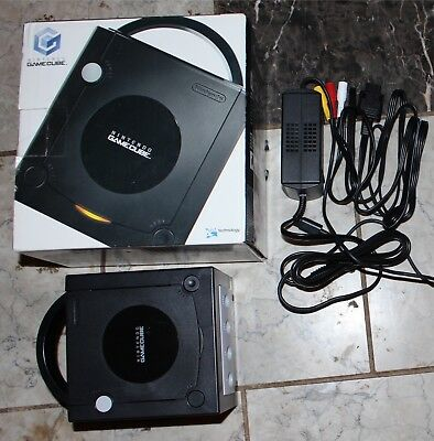 Nintendo Jet Black Gamecube Console System with Box #GC6