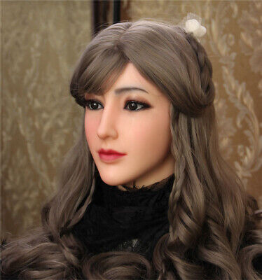 Realistic Silicone Female Masks Mask Doll Halloween for Crossdressers Cosplay
