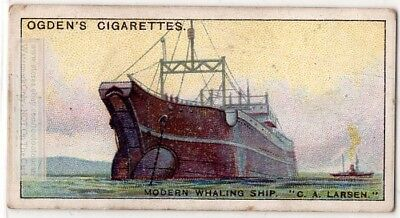 "Norwegian Whale Factory Ship ""C.A. Larsen""  1930s Ad Trade Card"