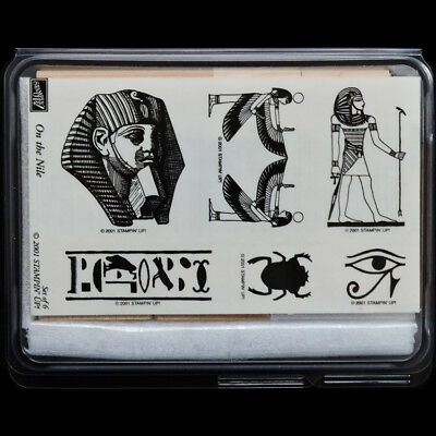 STAMPIN UP On the Nile STAMPS SET New RARE Egyptian Egypt Tut Pharaoh Eye Scarab