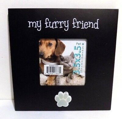 """My Furry Friend  Picture Frame 3.5"""" x 3.5"""" Picture ( NEW )"""