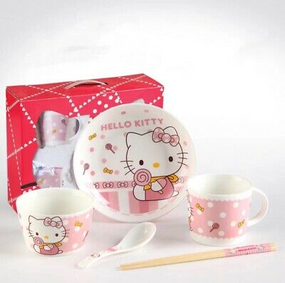 Hello Kitty 5pc Ceramic Dinner Set