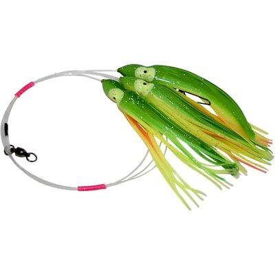 Daisy Chain Leader - Green Yellow & Orange - Marlin, Tuna, Mahi, Sailfish, Whaoo