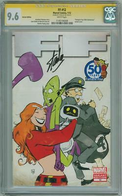 Ff #12 Stan Lee Young Variant Cgc 9.6 Signature Series Signed Fantastic Four