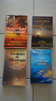 Lot de livres grand format Collen Mccullough