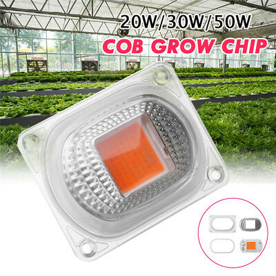 Full Spectrum COB LED Plant Grow Light Chip Growth Lamp 20/30/50W AC110/220V