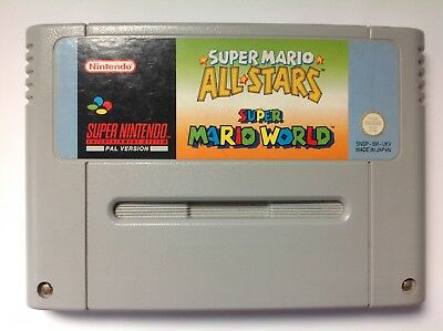 Mario All Stars Allstars + Mario World Snes Super Nintendo S346a