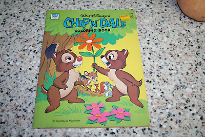 Walt Disney's Chip 'n' Dale 1976 Whitman Coloring Book Productions