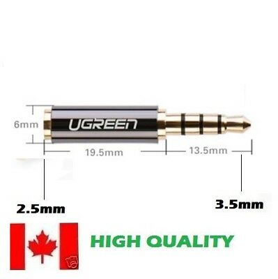 UGREEN 2.5mm Female to 3.5mm Male Stereo Audio Headphone Jack Adapter Converter