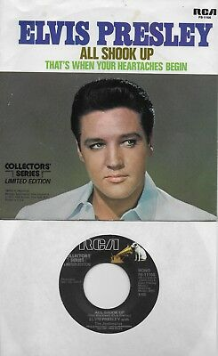ELVIS PRESLEY All Shook Up / That's When Your Heartaches Begin 45 with PicSleeve