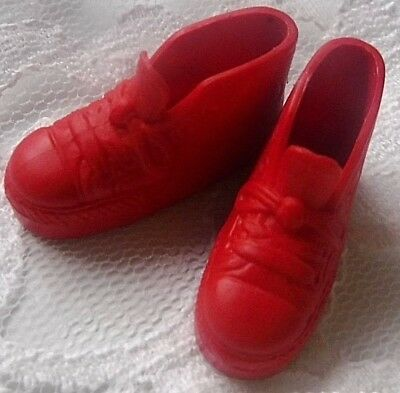 Vintage 1980 KEN Barbie original   RED HIGH TOP TENNIS SHOES  KEN ATHLETIC SHOES