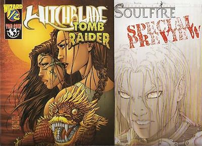 Michael Turner Witchblade Tomb Raider Wizard 1/2 Soulfire PrevIew Aspen Comics