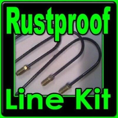 Rustproof Brake line kit Fits many Porsche 1985-1995 See description for details