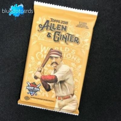 2018 Topps Baseball Allen & Ginter UNOPENED Hobby Pack (8 Cards/Pack)