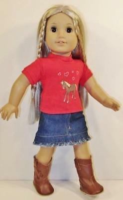 HORSE Pony Outfit fits American Girl Doll or 18 inch Dolls Skirt Top