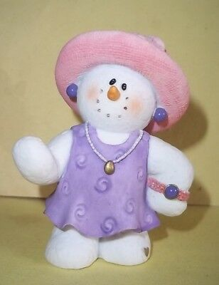 """Sarah's Attic Figure - Grandma Catherine Red Hat Collection Snow Person - 2 7/8"""""""