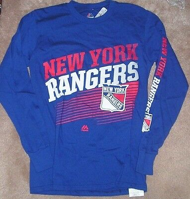 ad11a1eb7 VINTAGE NEW YORK Rangers T Shirt Long Sleeve Size Small 80s NHL ...