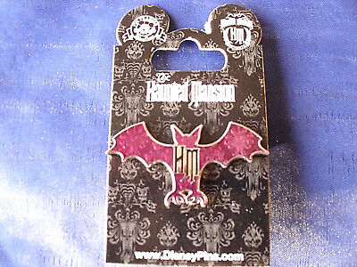 Disney HAUNTED MANSION LOGO & PURPLE BAT * New on Card Attraction Pin