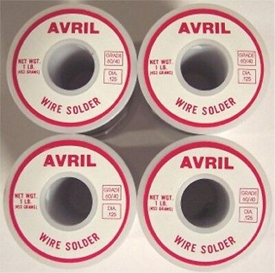 4 Lbs 60/40 Avril Premium Stained Glass Solder - Made in USA!