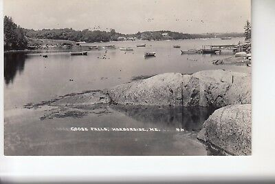 Eastern IL Real Photo Postcard The Harbor at Goose Falls  Harborside ME 4H