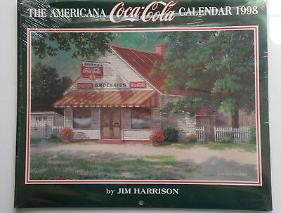 Coca Cola Wall Calendar--Jim Harrison--Coca Cola  1998 (Sealed--NIP)